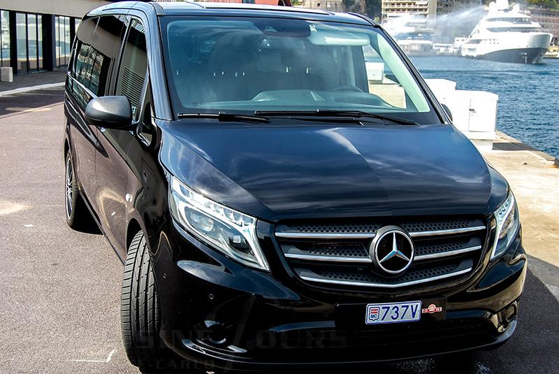 limousine tours monaco luxury car rental mercedes vito in monaco. Black Bedroom Furniture Sets. Home Design Ideas